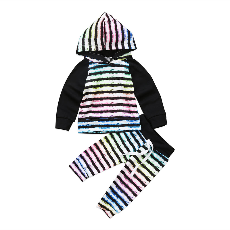 2 piece 'Rainbow' Hoody Outfit