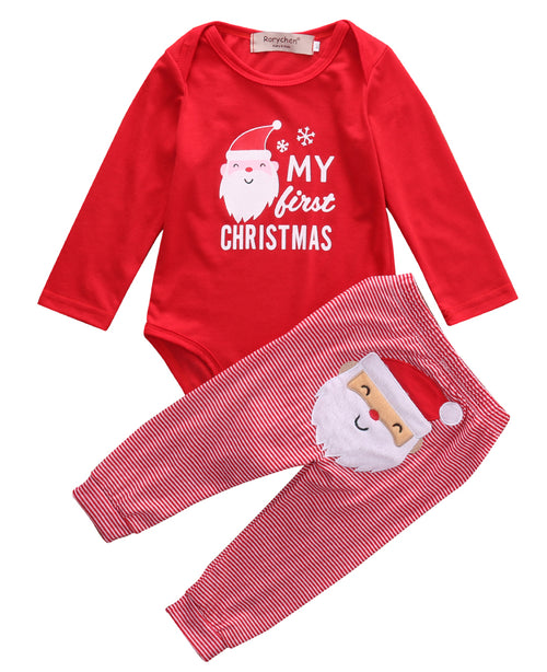 'My First Christmas' Santa Outfit