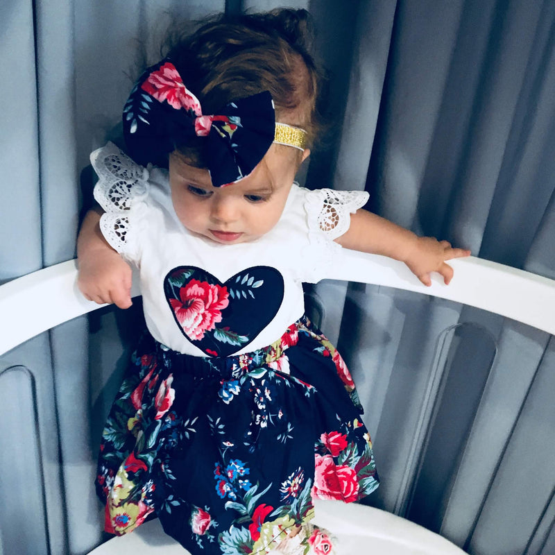 3 piece 'Flower Heart' Outfit