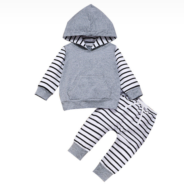 'Autumn' Striped Hoody Outfit