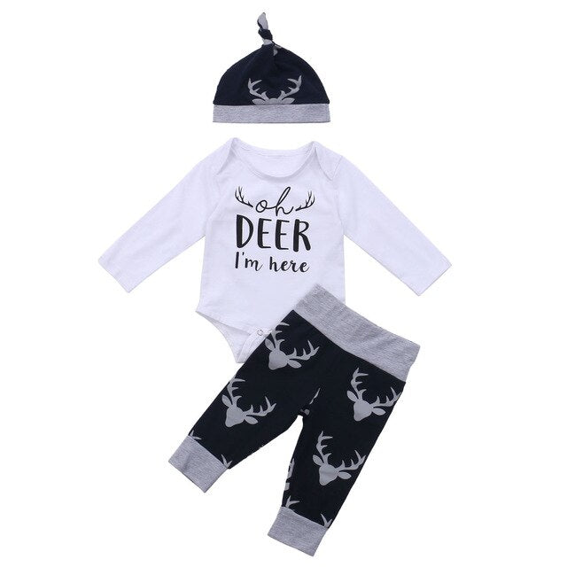 'Oh Deer I'm Here' Outfit with Beanie