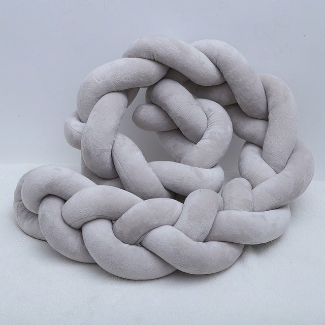 Braided Bed Plush Bumper