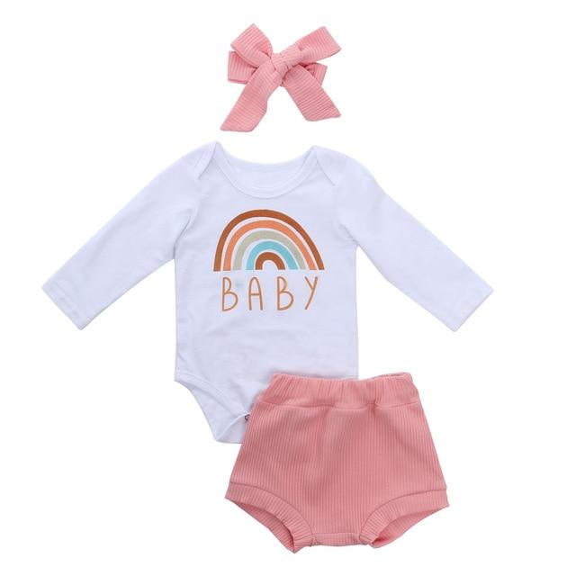 'Rainbow Baby' Outfit with Headband
