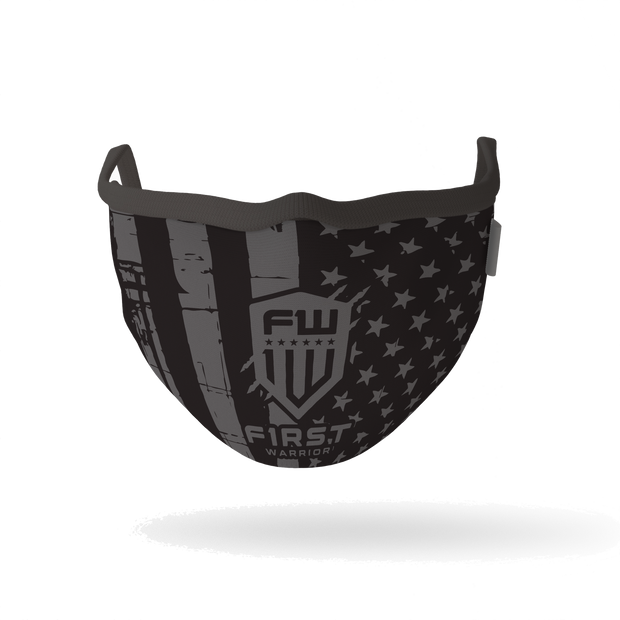Warrior Mask - B&W Flag