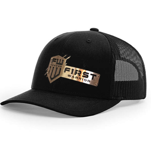 1W Black Snapback Stainless Hat