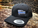 Blue Line Battle Flag Snapback Hat