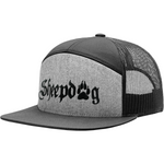 Sheepdog From First Warrior Gray and Black Snapback Hat