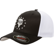 Skull branded Snapback hat with dual handguns. Glockjaw from First Warrior