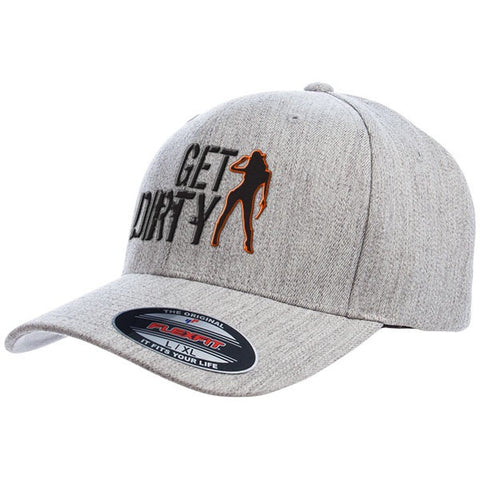 Get Dirty Clean Version FlexFit Wool Blend Hat with Pistol Girl Logo