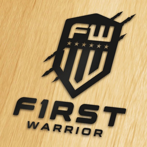 First Warrior Decal - Black Tall Version