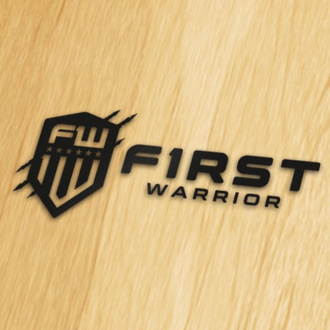 First Warrior Decal - Black Wide Version