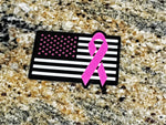 Cancer Awareness Flag Decal