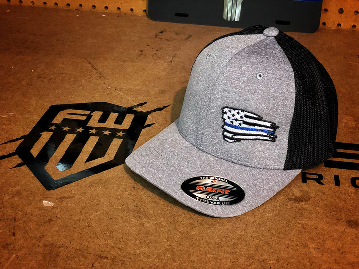 Blue Line Battle Flag FLEXFIT Hat