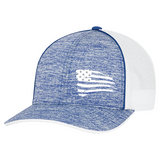 First Warrior American Battle Flag Blue and White Snapback Hat