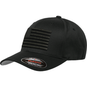 First Warrior BlackOps United American Flag Black Flexfit Hat