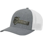 1W White/Gray Snapback Gray Stainless Hat