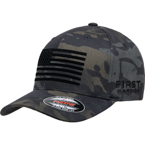 Camo United Flag Flexfit