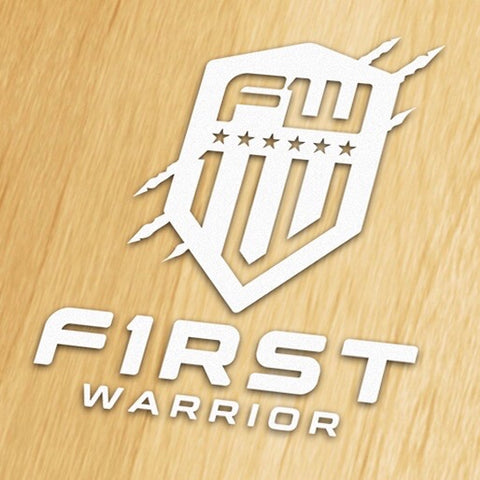 First Warrior Decal - White Tall Version
