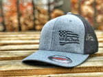 We The People American Battle Flag Flexfit Gray and Black Hat