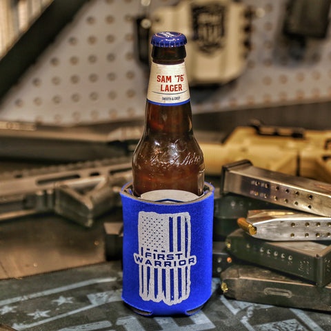 1W BLUE Soft Koozie