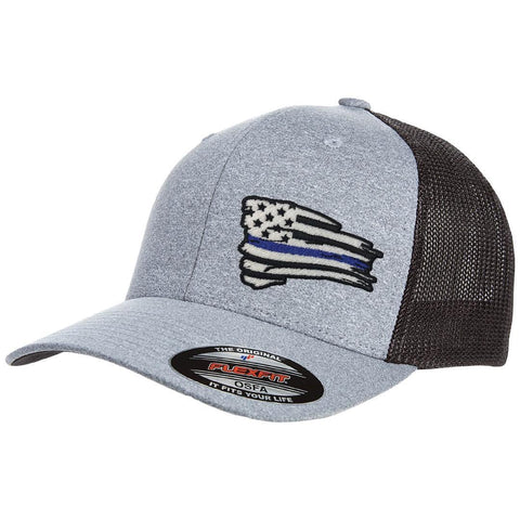 Blue Line Battle Flag FLEXFIT Hat c1ca75811ba9