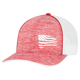 First Warrior American Battle Flag Red and White Snapback Hat