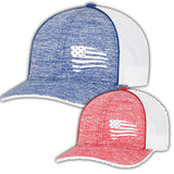 First Warrior American Battle Flag Blue and White and Red and White Snapback Hat