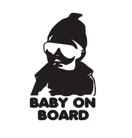 STICKER DECAL BABY ON BOARD  2