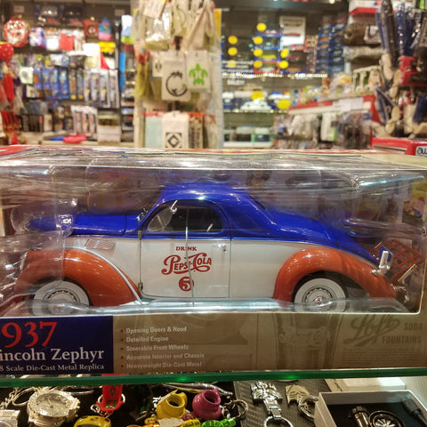1:18 1937 Lincoln Zephyr Pepsi Cola Autoworld