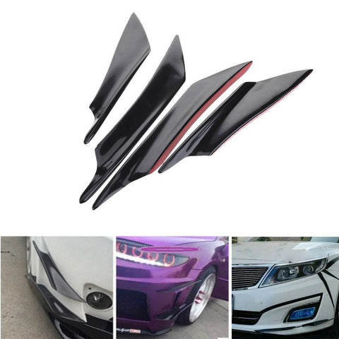 4Pcs Universal Car Front Bumper Lip Splitter Fins Body