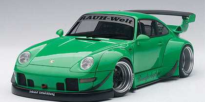 1:18 Rwb 993  (GREEN/GUN GREY WHEELS)