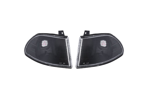 For 92 93 94 95 Civic EG8 4 Door Sedan Black Clear Corner Turn Signal