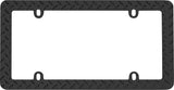 LICENSE PLATE FRAME DIAMOND PLATE MATTE BLACK