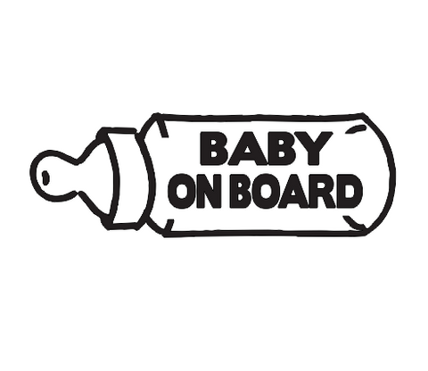 STICKER DECAL BABY ON BOARD 1