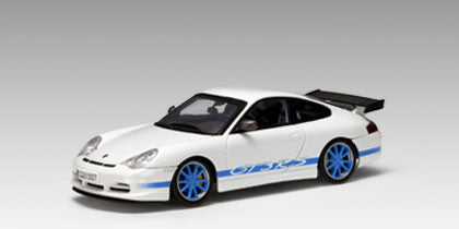 AUTOart 1:43 PORSCHE 911 GT3 RS WHITE/BLUE STRIPE