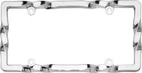 LICENSE PLATE FRAME TWIST CHROME