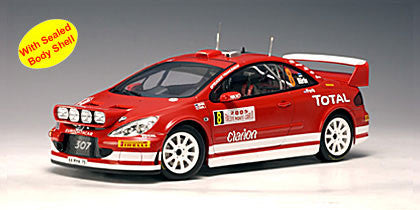 AUTOart 1:18 2005 PEUGEOT 307 WRC RED NIGHT RACE VERSION SEALED BODY SHELL