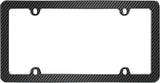 LICENSE PLATE FRAME FIBER BLACK/CHROME