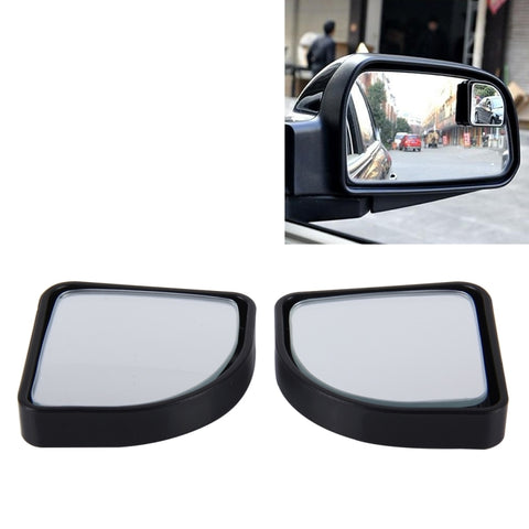 3R-015 2 PCS CAR BLIND SPOT REAR VIEW WIDE ANGLE MIRROR