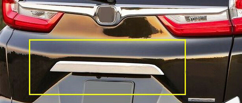 Chrome Rear Tailgate Bazel Lid Cover Trim For Honda CRV 2017-2018 Acce