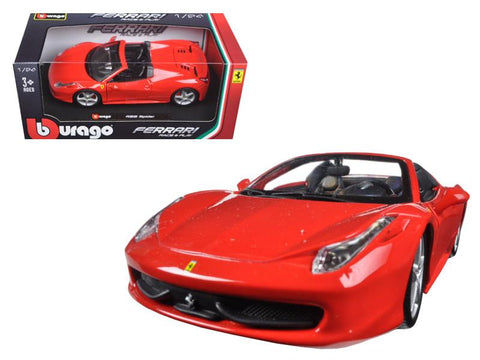 1:24 Ferrari Race & Play - Ferrari 458 Spider (red)