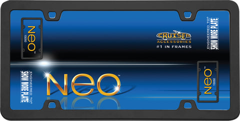 LICENSE PLATE FRAME NEO BLACK