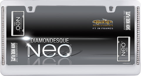 LICENSE PLATE FRAME NEO DIAMONDESQUE CHROME