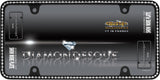 LICENSE PLATE FRAME DIAMONDESQUE MATT BLACK/CLEAR