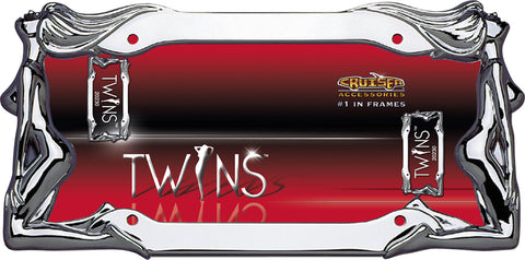 LICENSE PLATE FRAME TWINS CHROME