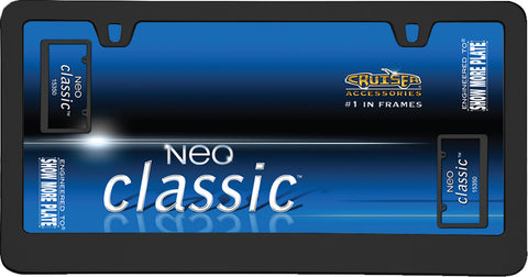 LICENSE PLATE FRAME NEO CLASSIC BLACK