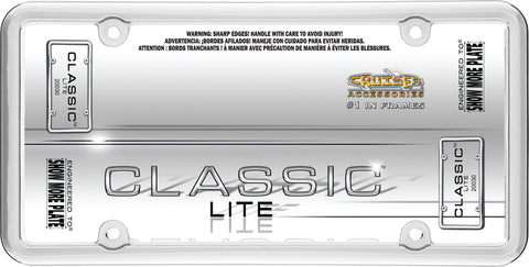 LICENSE PLATE FRAME CLASSIC LITE CHROME