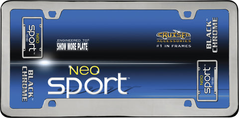 LICENSE PLATE FRAME NEO SPORT BLACK CHROME