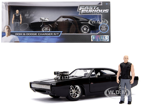 Jada 1:24 Bom & Dodge Charger R/T with figure Diecase Model