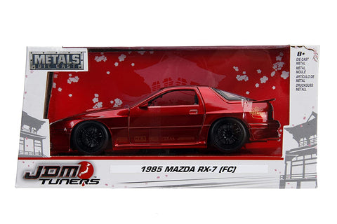 "Jada 1/24 ""JDM Tuners"" 1/24 1985 Mazda RX-7 RC- Candy Red"
